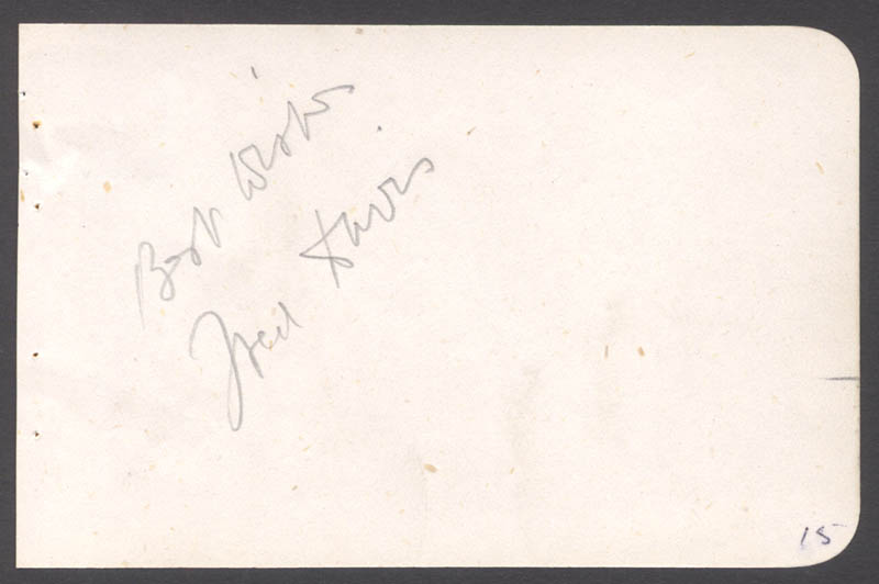 Image 1 for Fred Davis - Autograph Sentiment Signed - HFSID 142813