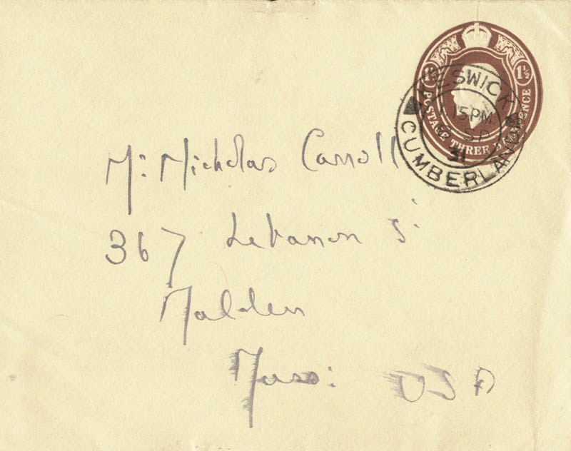 Image 1 for Sir Hugh Walpole - Autograph Envelope Unsigned - HFSID 142843