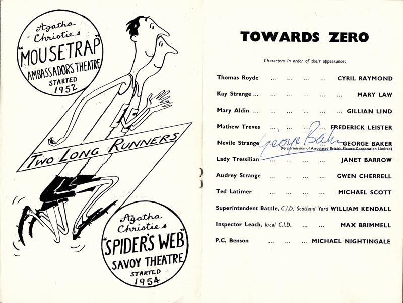 Image 1 for George Baker - Show Bill Signed 09/04/1956 - HFSID 142992