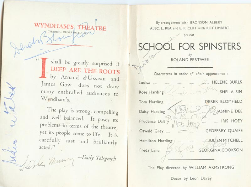 Image 3 for School For Spinsters Play Cast - Show Bill Signed Circa 1947 with co-signers - HFSID 142995