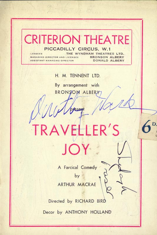Image 3 for Traveller'S Joy Play Cast - Show Bill Signed with co-signers - HFSID 142996