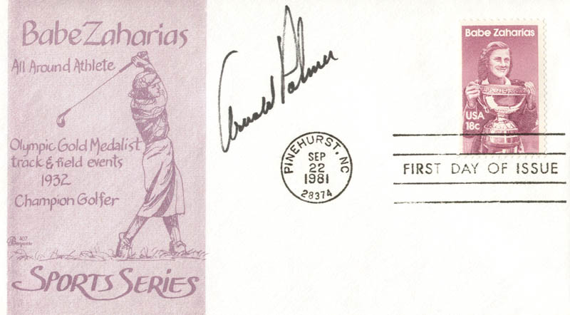Image 1 for Arnold Palmer - First Day Cover Signed - HFSID 143216
