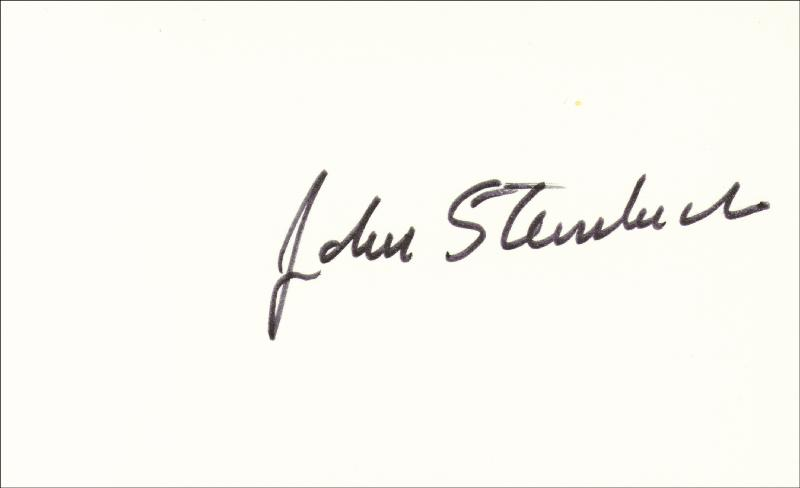 Image 1 for John Steinbeck - Autograph - HFSID 143319