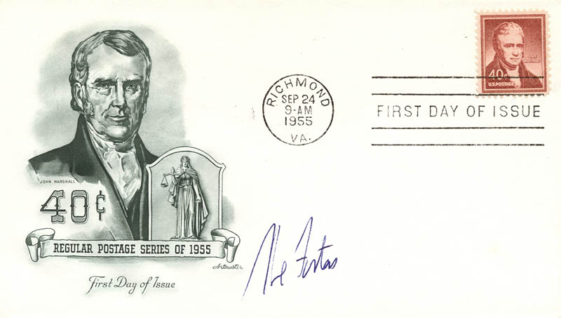 Image 1 for Associate Justice Abe Fortas - First Day Cover Signed - HFSID 143558