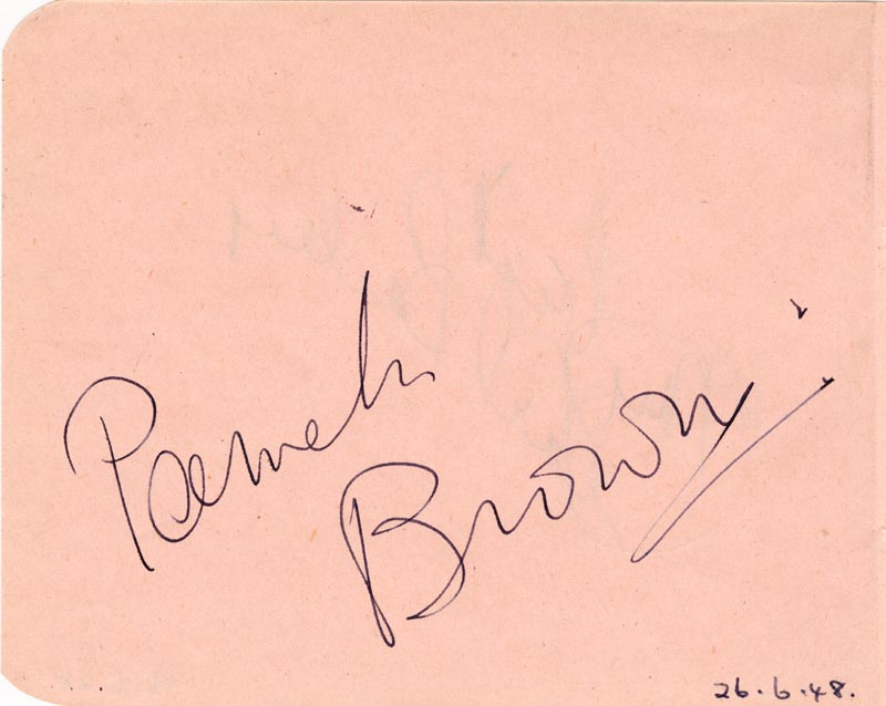 Image 3 for Pearl Bailey - Autograph Sentiment Signed 06/26/1948 co-signed by: Pamela Brown - HFSID 143568