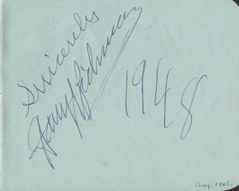 Image 1 for Harry Richman - Autograph 1948 co-signed by: Clifford Mollison, Hugh Latimer - HFSID 143580