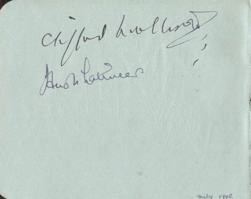 Image 3 for Harry Richman - Autograph 1948 co-signed by: Clifford Mollison, Hugh Latimer - HFSID 143580