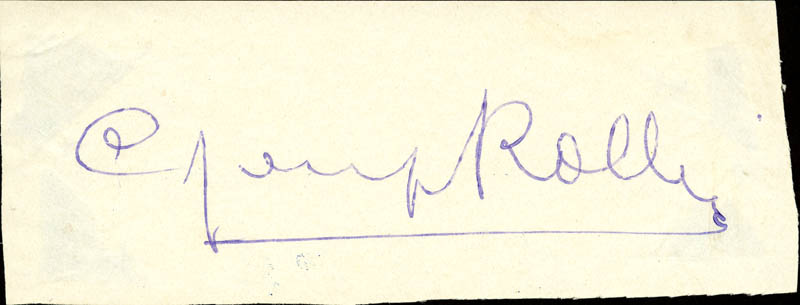 Image 1 for Cyril Rollins - Autograph - HFSID 143768