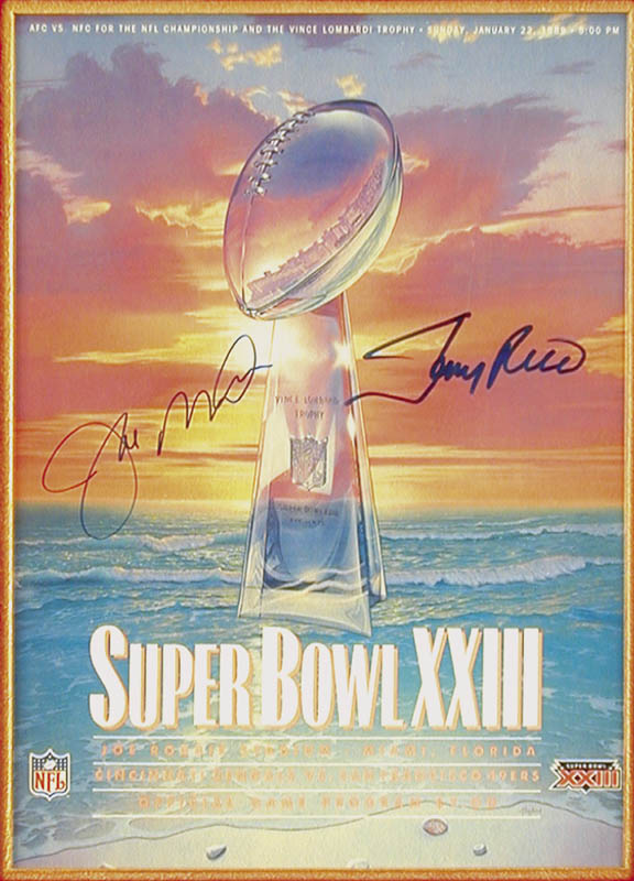 Image 3 for Joe Montana - Super Bowl Program Signed Circa 1989 co-signed by: Jerry Rice - HFSID 143849