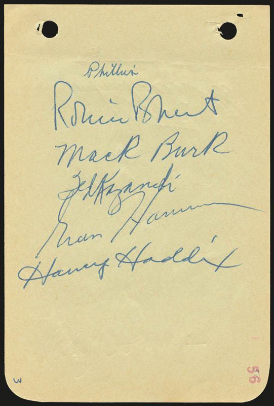Image 1 for The Philadelphia Phillies - Autograph Circa 1956 with co-signers - HFSID 143978