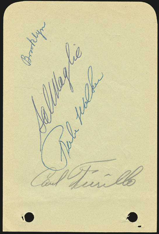 Image 3 for The Philadelphia Phillies - Autograph Circa 1956 with co-signers - HFSID 143978
