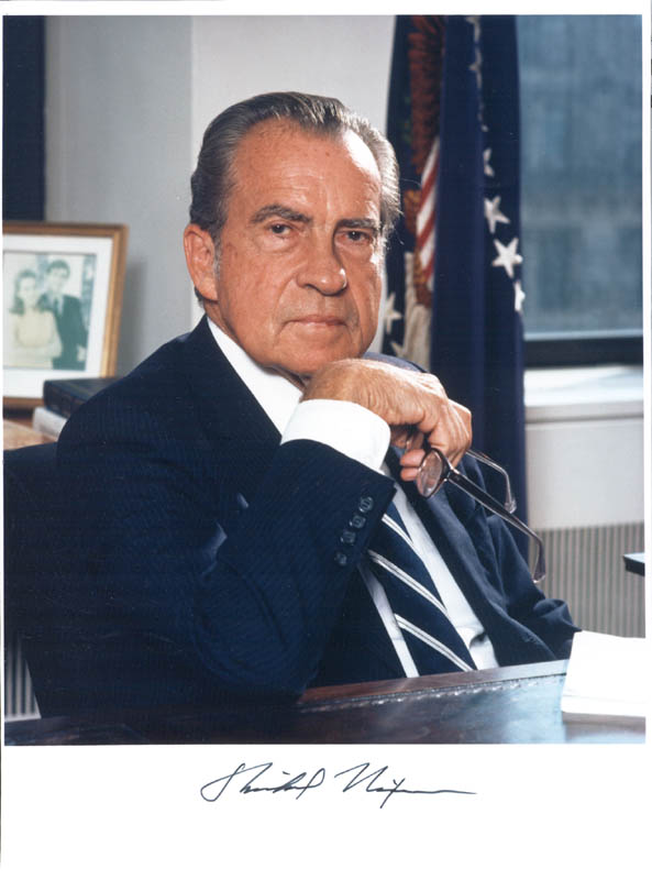 Image 1 for President Richard M. Nixon - Autographed Signed Photograph - HFSID 144023