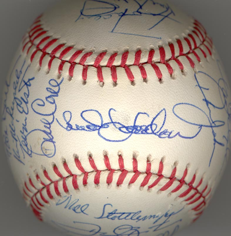 Image 1 for The New York Mets - Autographed Signed Baseball Circa 1990 with co-signers - HFSID 144086