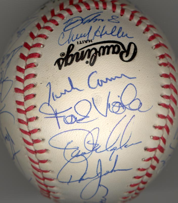 Image 3 for The New York Mets - Autographed Signed Baseball Circa 1990 with co-signers - HFSID 144086