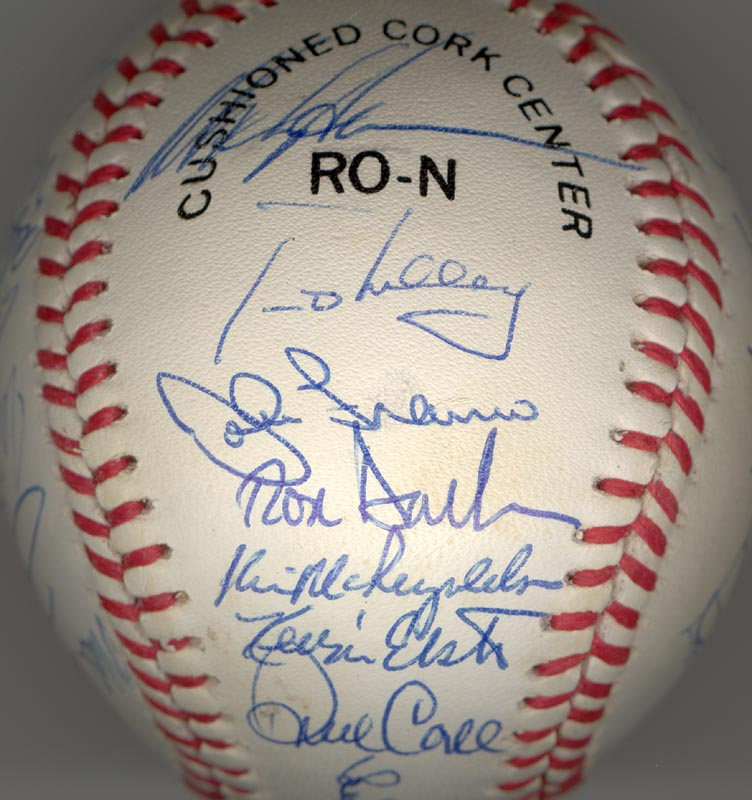 Image 4 for The New York Mets - Autographed Signed Baseball Circa 1990 with co-signers - HFSID 144086