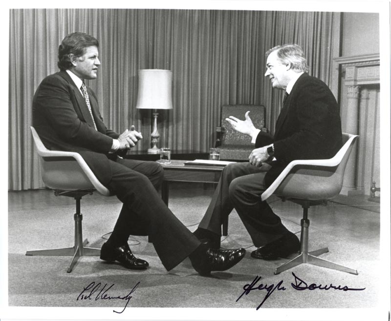 Image 1 for Edward 'Ted' Kennedy - Autographed Signed Photograph co-signed by: Hugh Downs - HFSID 144093