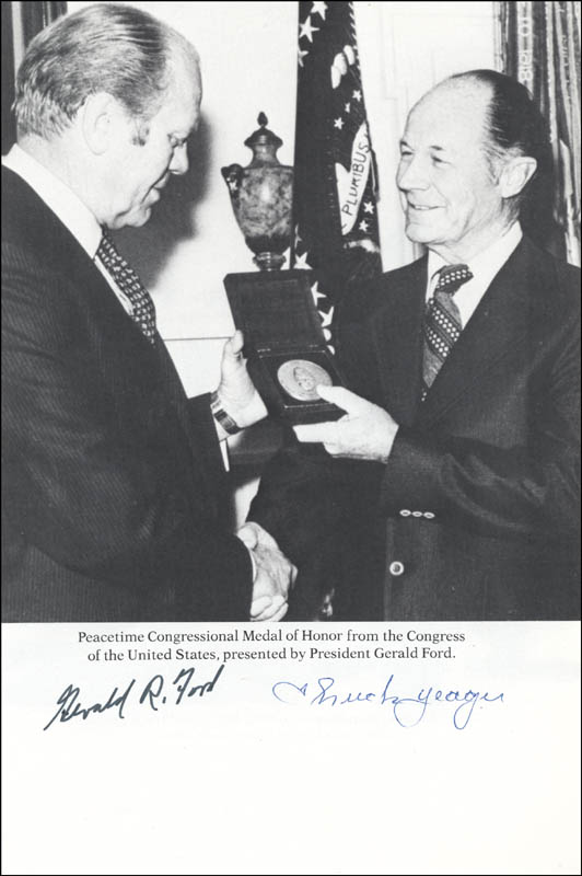 Image 1 for President Gerald R. Ford - Magazine Photograph Signed co-signed by: Brigadier General Chuck Yeager - HFSID 144131