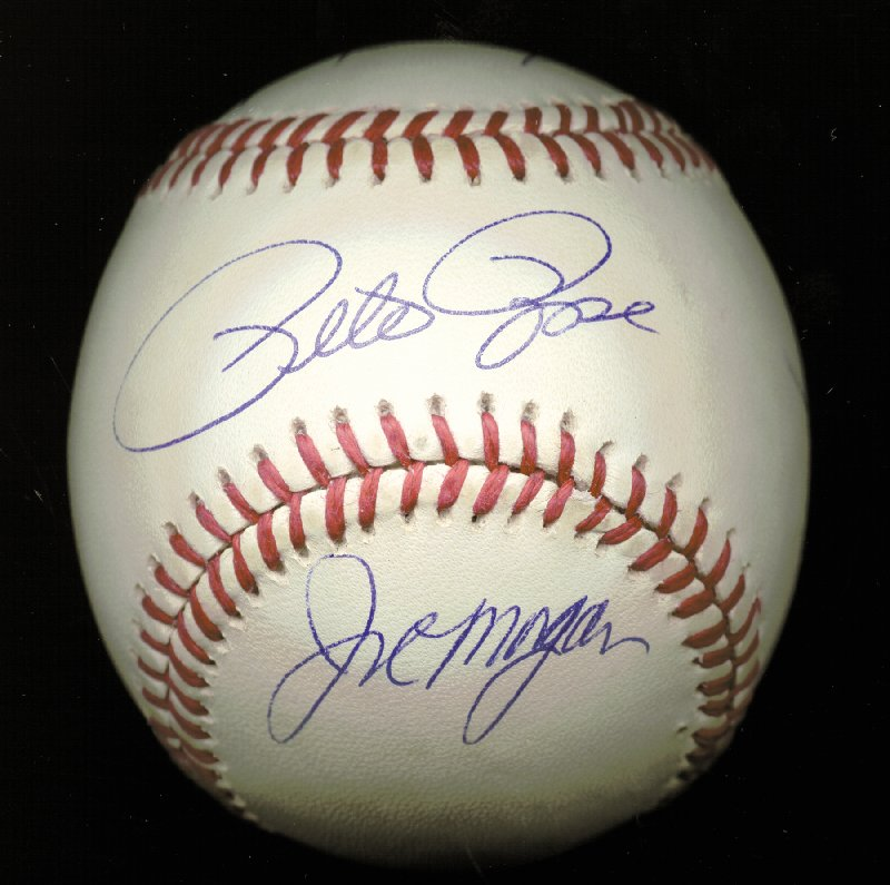Image 1 for Cincinnati Reds - Autographed Signed Baseball co-signed by: George Foster, Dave Concepcion, Joe 'Little Joe' Morgan, Tony Perez, Pete Rose - HFSID 144691