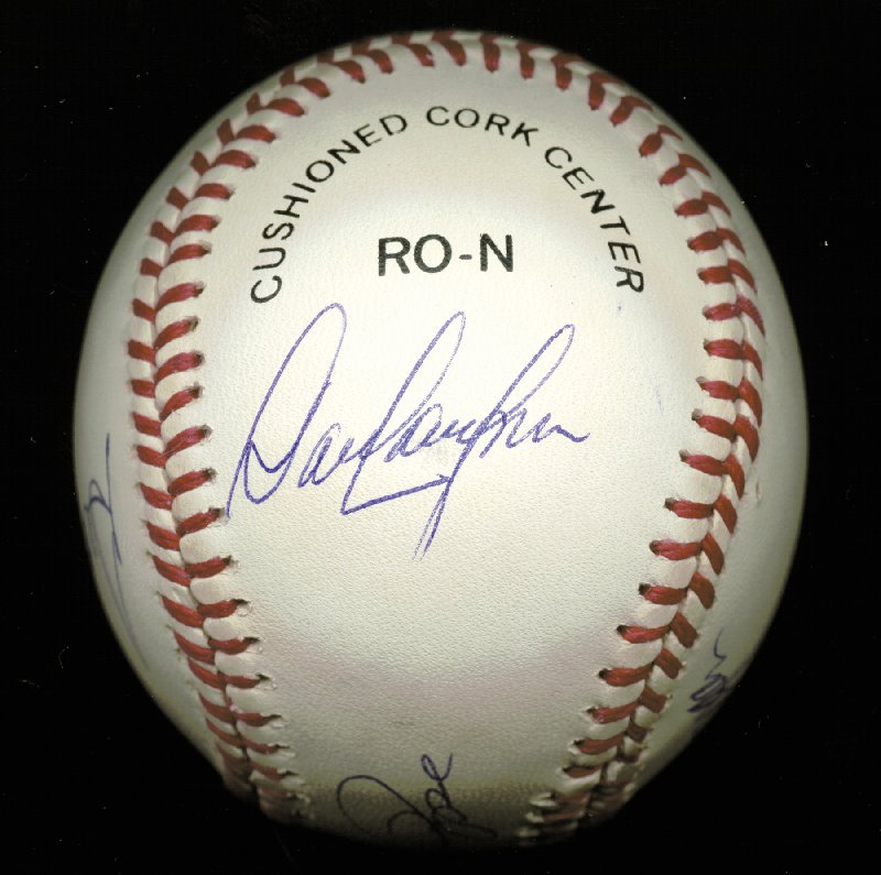 Image 3 for Cincinnati Reds - Autographed Signed Baseball co-signed by: George Foster, Dave Concepcion, Joe 'Little Joe' Morgan, Tony Perez, Pete Rose - HFSID 144691