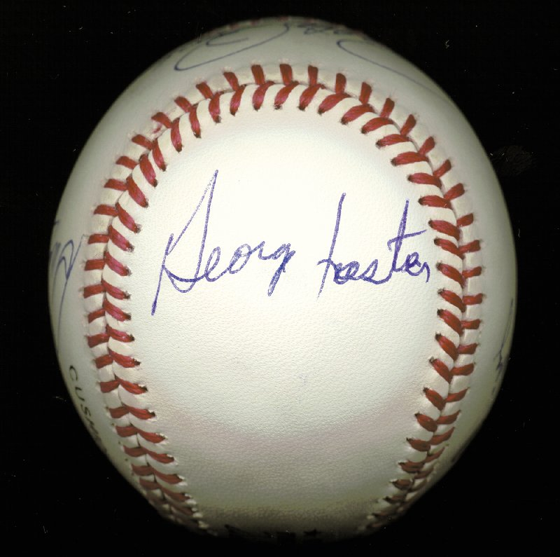 Image 5 for Cincinnati Reds - Autographed Signed Baseball co-signed by: George Foster, Dave Concepcion, Joe 'Little Joe' Morgan, Tony Perez, Pete Rose - HFSID 144691