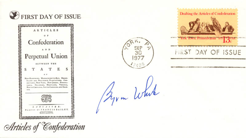Image 1 for Associate Justice Byron R. White - First Day Cover Signed - HFSID 144828