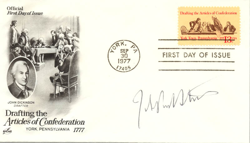 Image 1 for Associate Justice John Paul Stevens - First Day Cover Signed - HFSID 144852