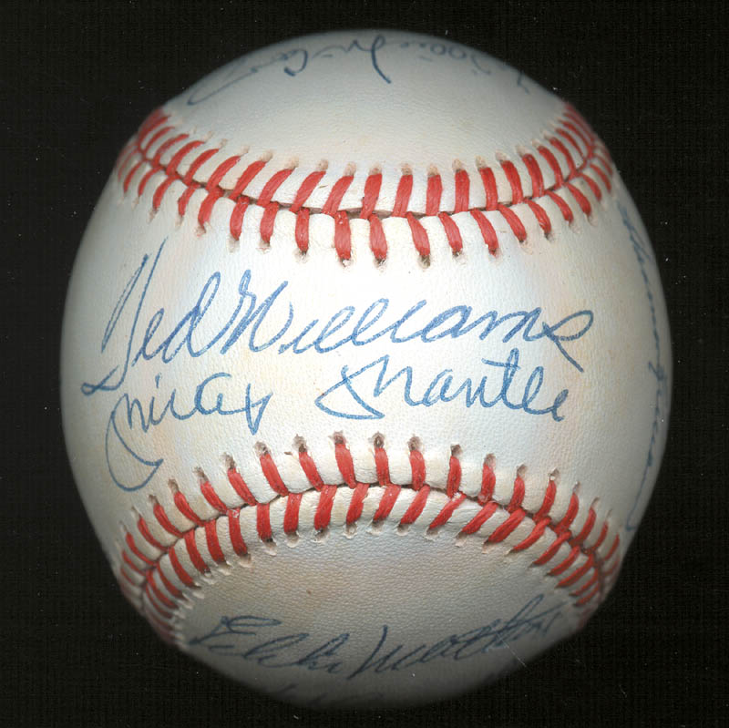 Image 3 for 500 Home Run Hitters - Autographed Signed Baseball with co-signers - HFSID 144935