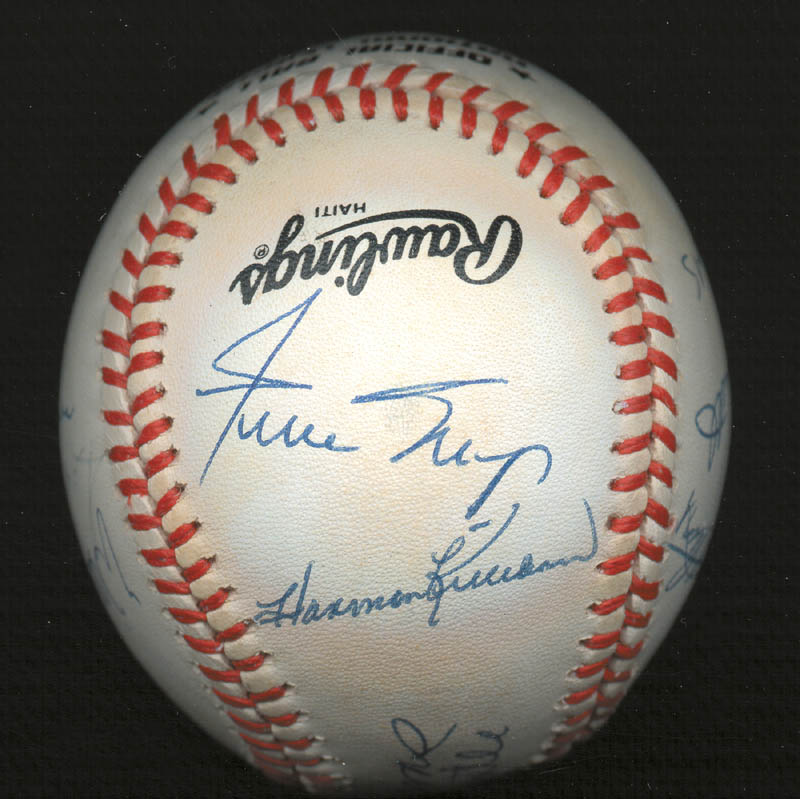 Image 4 for 500 Home Run Hitters - Autographed Signed Baseball with co-signers - HFSID 144935
