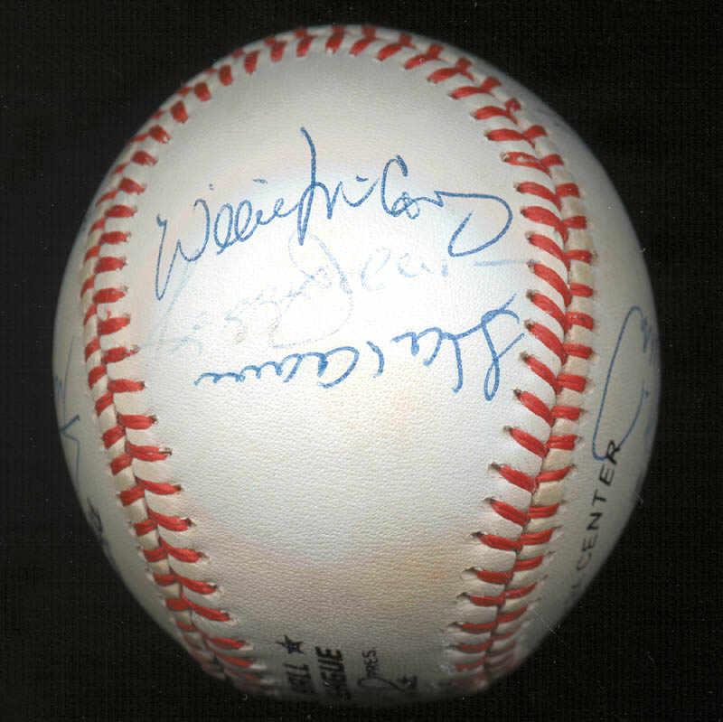 Image 6 for 500 Home Run Hitters - Autographed Signed Baseball with co-signers - HFSID 144935