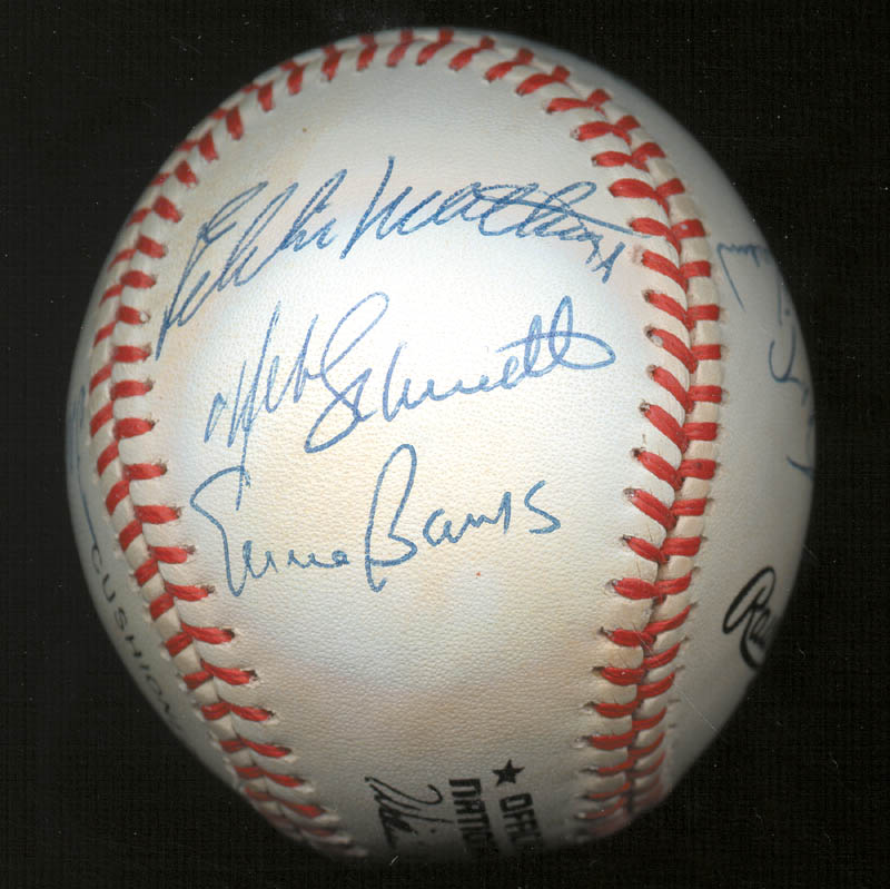 Image 7 for 500 Home Run Hitters - Autographed Signed Baseball with co-signers - HFSID 144935