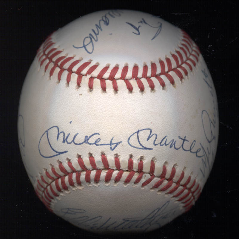 Image 4 for 500 Home Run Hitters - Autographed Signed Baseball with co-signers - HFSID 144939
