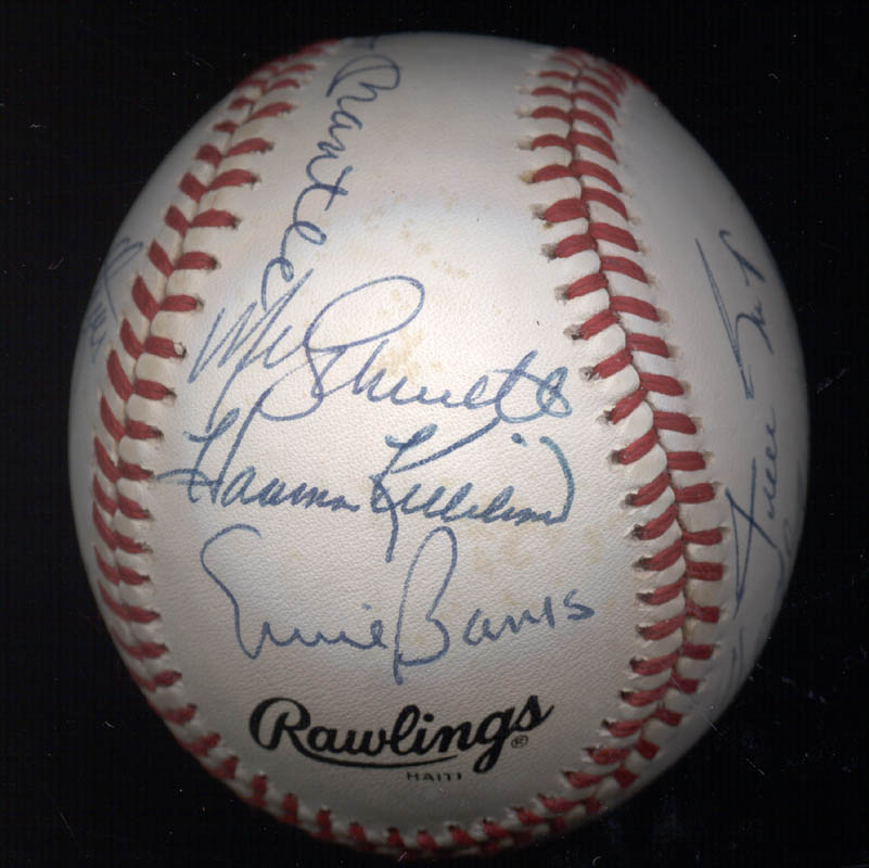 Image 5 for 500 Home Run Hitters - Autographed Signed Baseball with co-signers - HFSID 144939