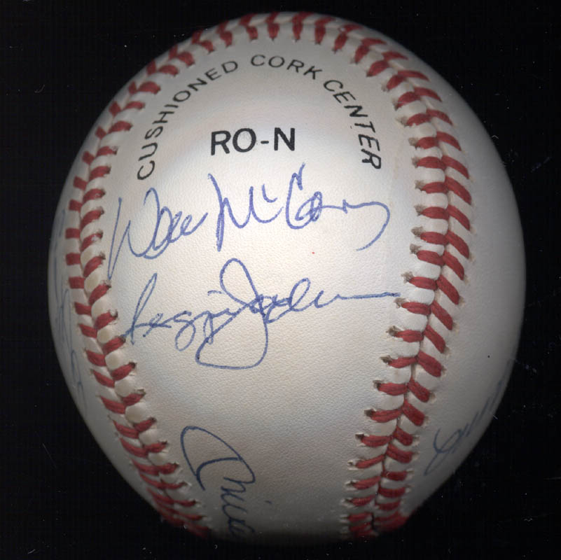 Image 6 for 500 Home Run Hitters - Autographed Signed Baseball with co-signers - HFSID 144939