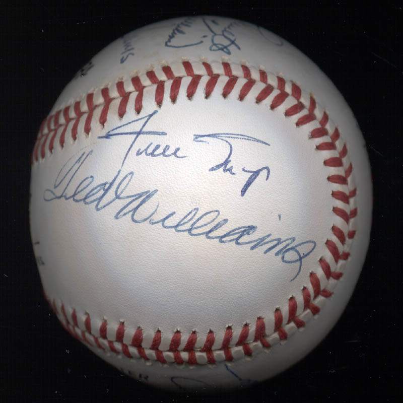 Image 7 for 500 Home Run Hitters - Autographed Signed Baseball with co-signers - HFSID 144939