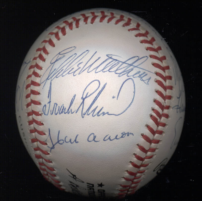 Image 8 for 500 Home Run Hitters - Autographed Signed Baseball with co-signers - HFSID 144939