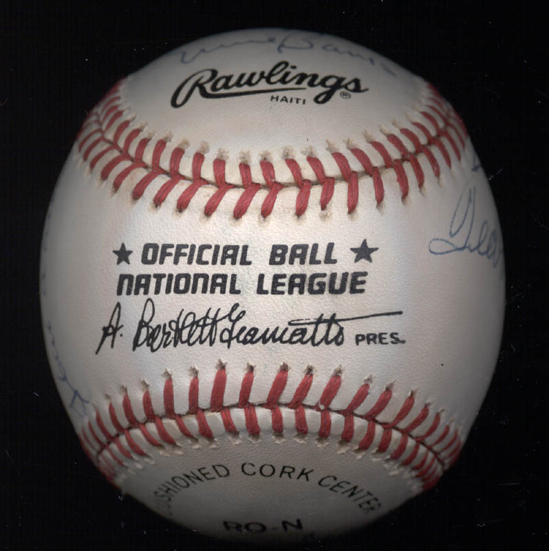 Image 9 for 500 Home Run Hitters - Autographed Signed Baseball with co-signers - HFSID 144939