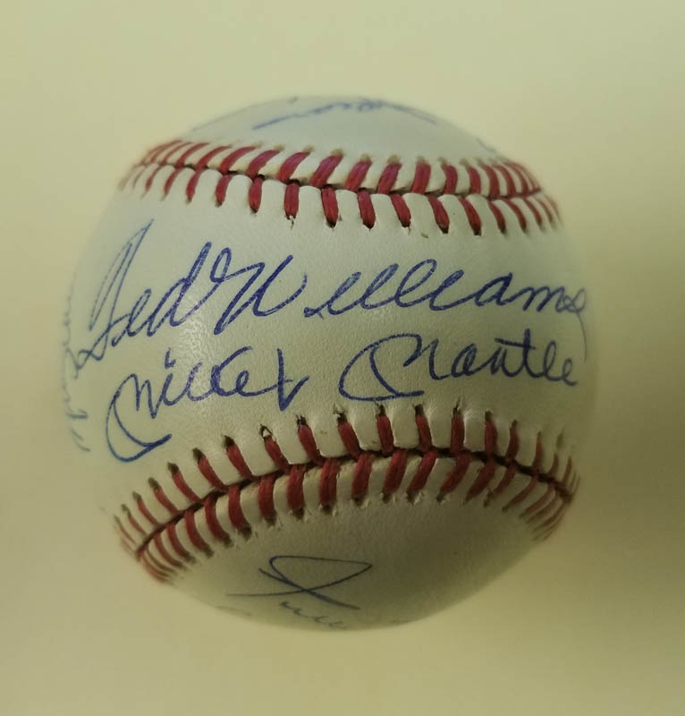 Image 1 for 500 Home Run Hitters - Autographed Signed Baseball with co-signers - HFSID 144945