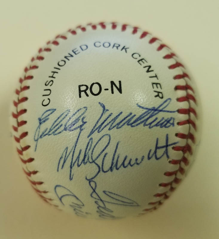 Image 4 for 500 Home Run Hitters - Autographed Signed Baseball with co-signers - HFSID 144945