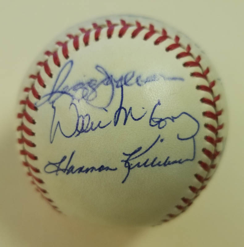 Image 6 for 500 Home Run Hitters - Autographed Signed Baseball with co-signers - HFSID 144945