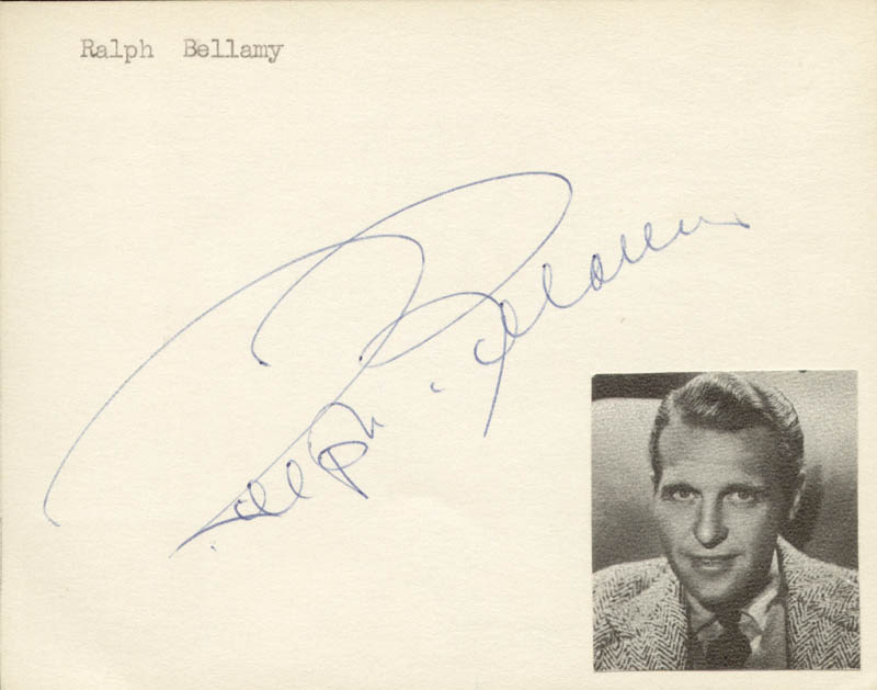 Image 1 for Ralph Bellamy - Autograph - HFSID 145