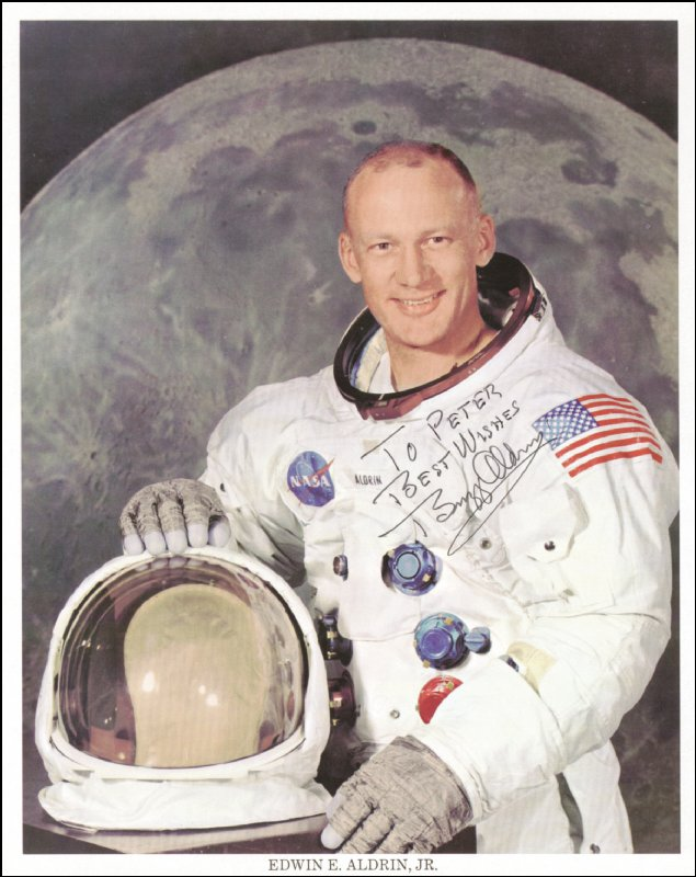 Image 1 for Colonel Buzz Aldrin - Autographed Inscribed Photograph - HFSID 145040