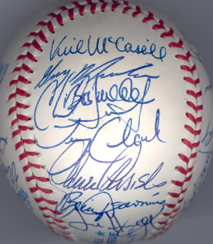 Image 3 for The California Angels - Autographed Signed Baseball Circa 1989 with co-signers - HFSID 145081