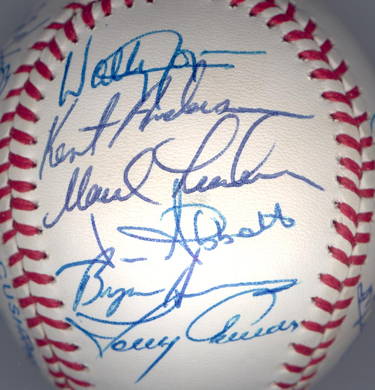 Image 4 for The California Angels - Autographed Signed Baseball Circa 1989 with co-signers - HFSID 145081