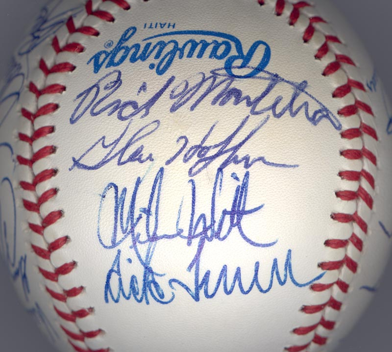Image 5 for The California Angels - Autographed Signed Baseball Circa 1989 with co-signers - HFSID 145081