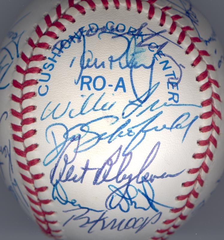 Image 6 for The California Angels - Autographed Signed Baseball Circa 1989 with co-signers - HFSID 145081