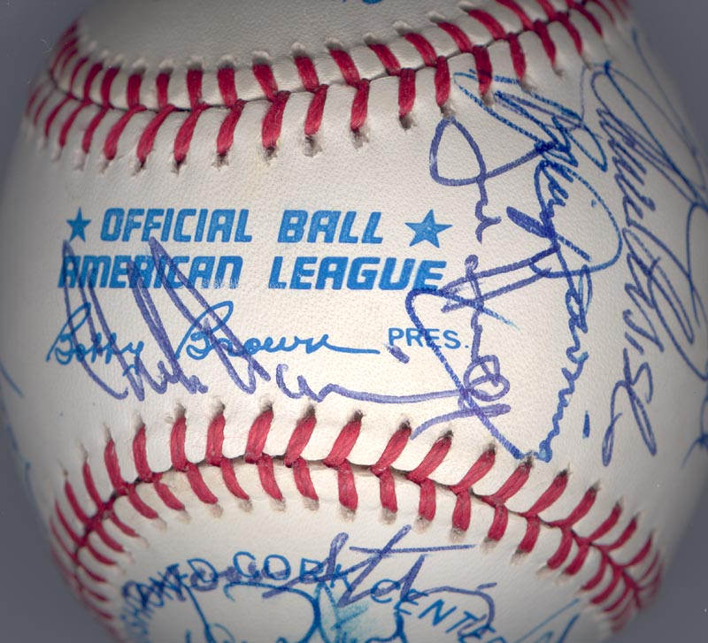 Image 7 for The California Angels - Autographed Signed Baseball Circa 1989 with co-signers - HFSID 145081