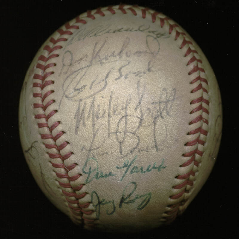 Image 3 for The California Angels - Autographed Signed Baseball with co-signers - HFSID 145084
