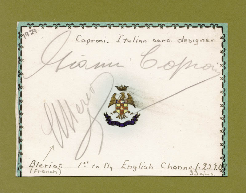 Image 1 for Louis Bleriot - Autograph Circa 1929 co-signed by: Count Giovanni Battista 'Gianni' Caproni - HFSID 145096