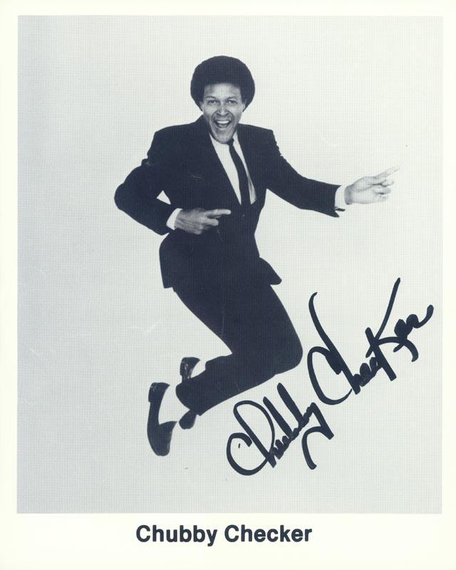 Image 1 for Chubby 'The Twist King' Checker - Autographed Signed Photograph - HFSID 145150