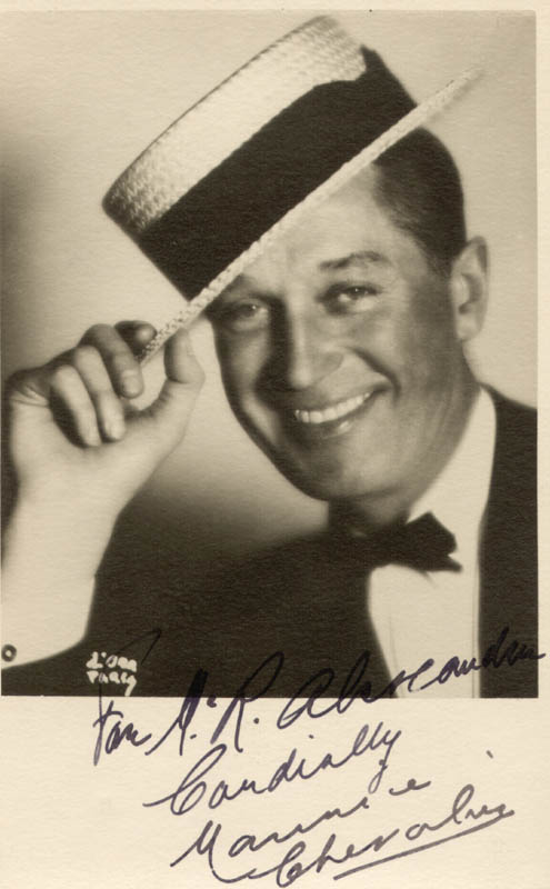 Image 1 for Maurice Chevalier - Autographed Inscribed Photograph - HFSID 145236